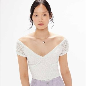 Urban Outfitters Molly Lace Off The Shoulder Top